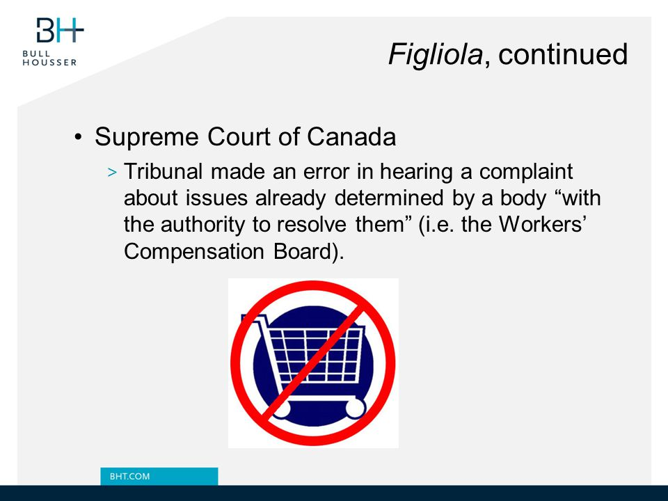 Figliola, continued Supreme Court of Canada