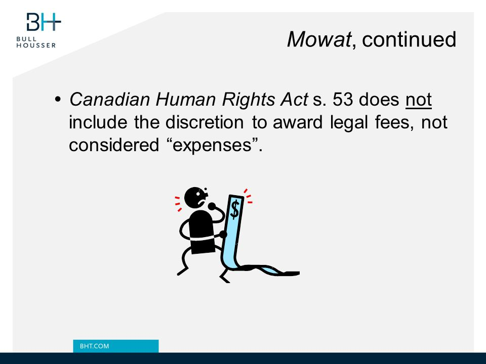 Mowat, continued Canadian Human Rights Act s.