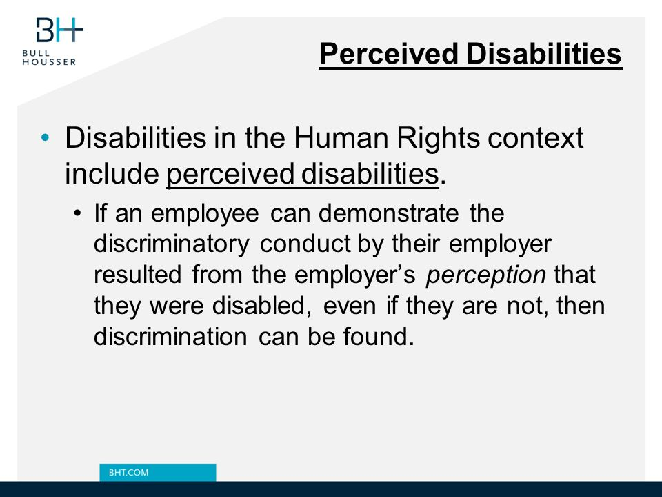 Perceived Disabilities