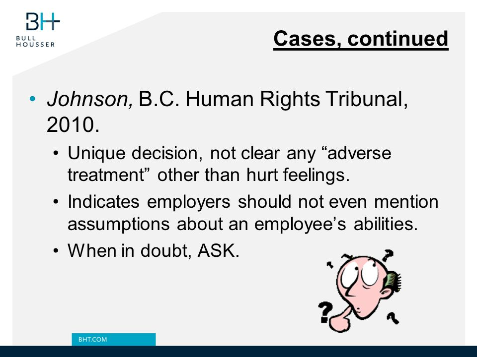 Johnson, B.C. Human Rights Tribunal, 2010.