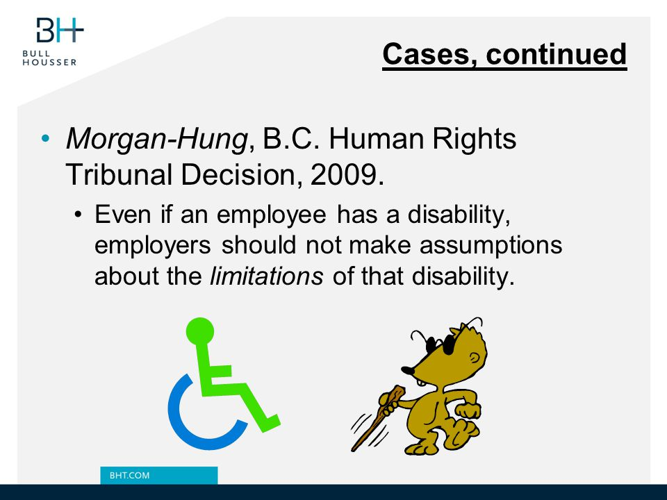 Morgan-Hung, B.C. Human Rights Tribunal Decision, 2009.