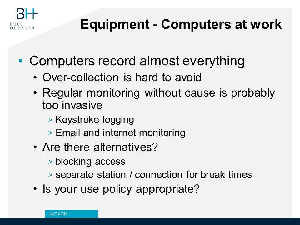 Equipment - Computers at work