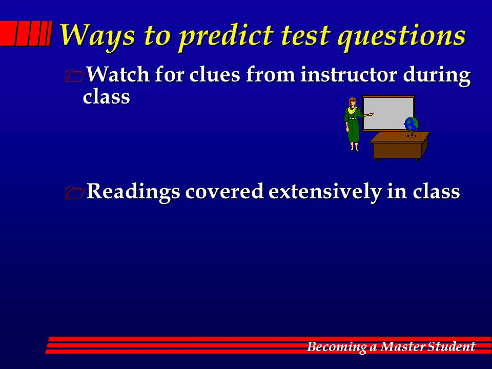 Ways to predict test questions