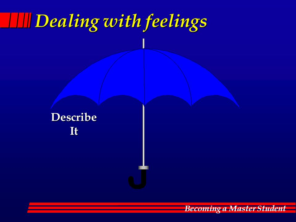 Dealing with feelings Describe It