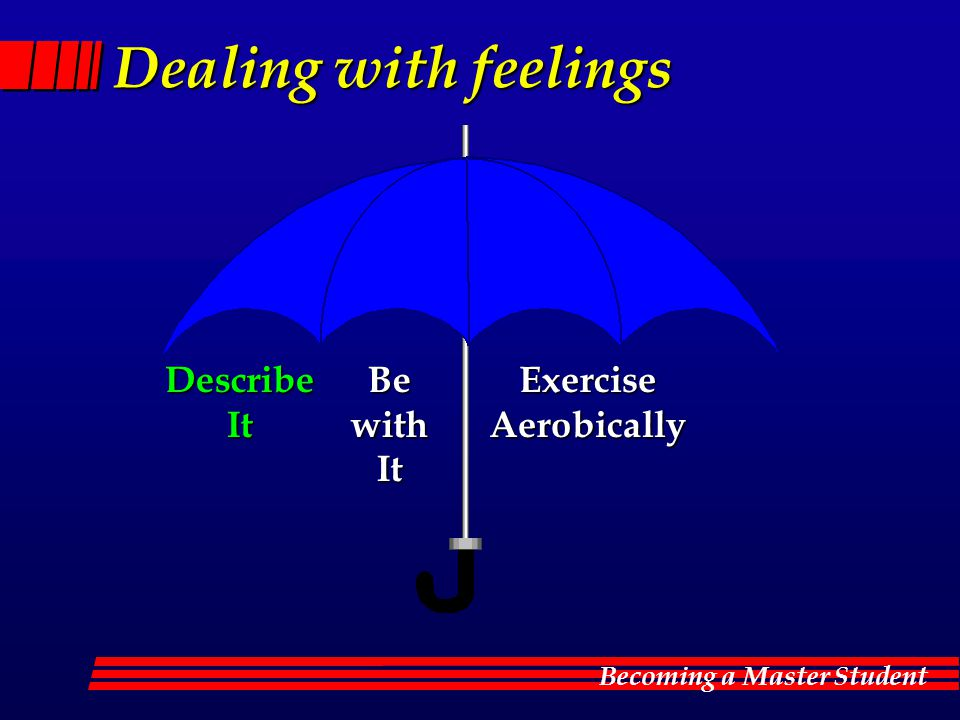 Dealing with feelings Describe It Be with It Exercise Aerobically