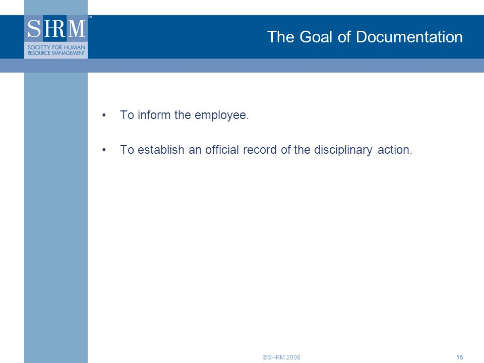 The Goal of Documentation