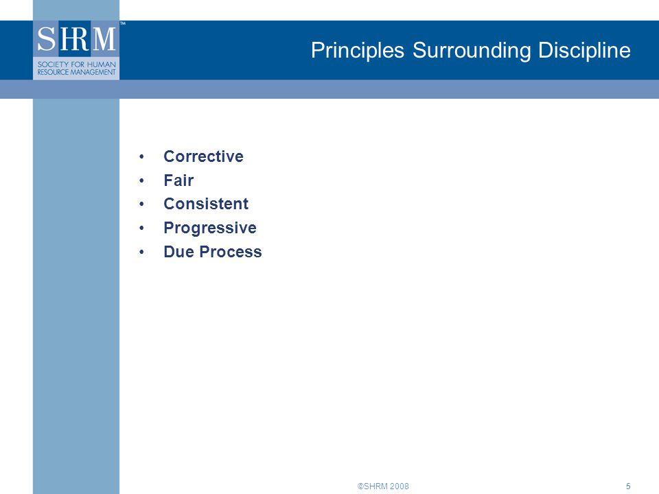 Principles Surrounding Discipline