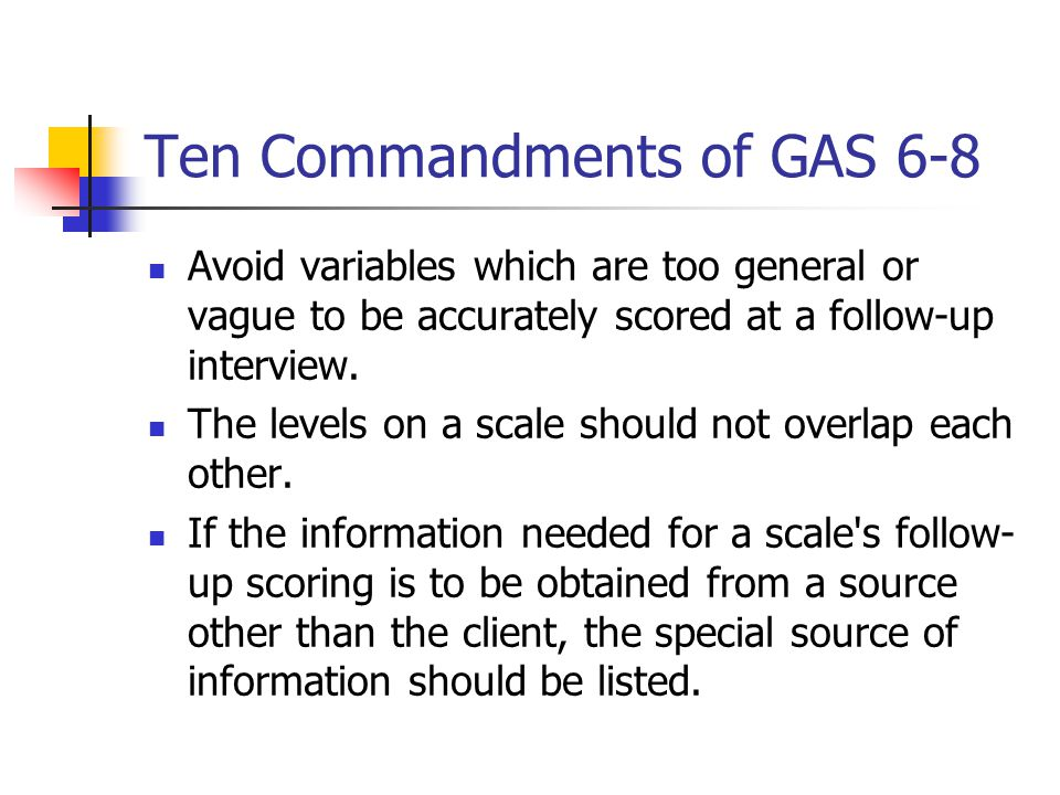 Ten Commandments of GAS 6-8