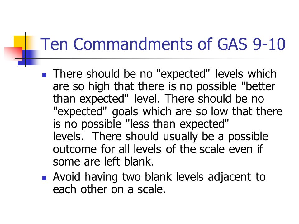 Ten Commandments of GAS 9-10