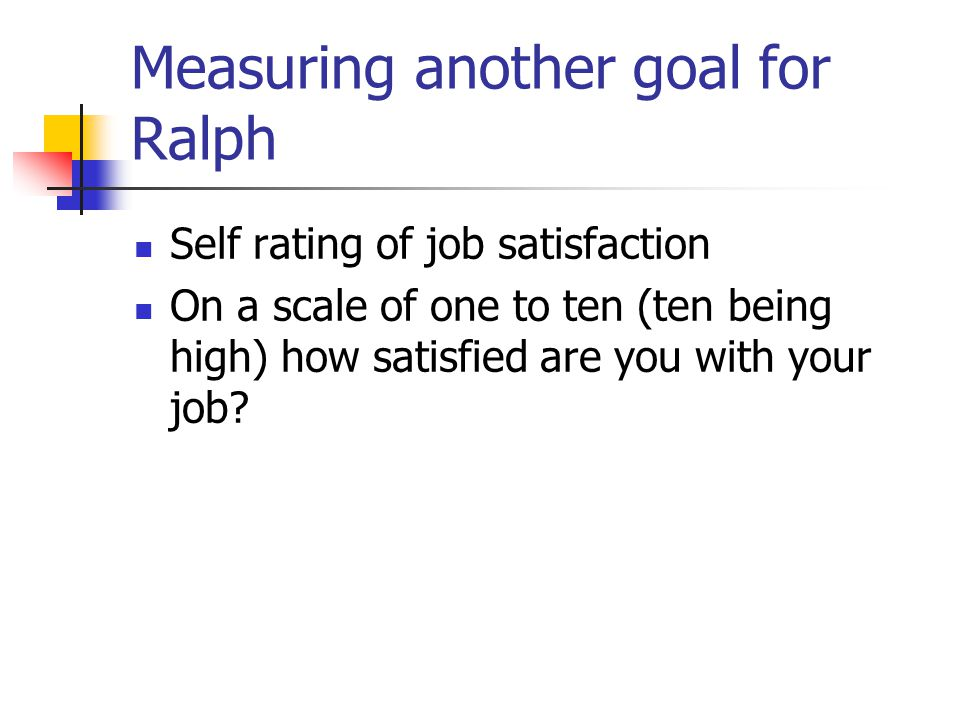 Measuring another goal for Ralph