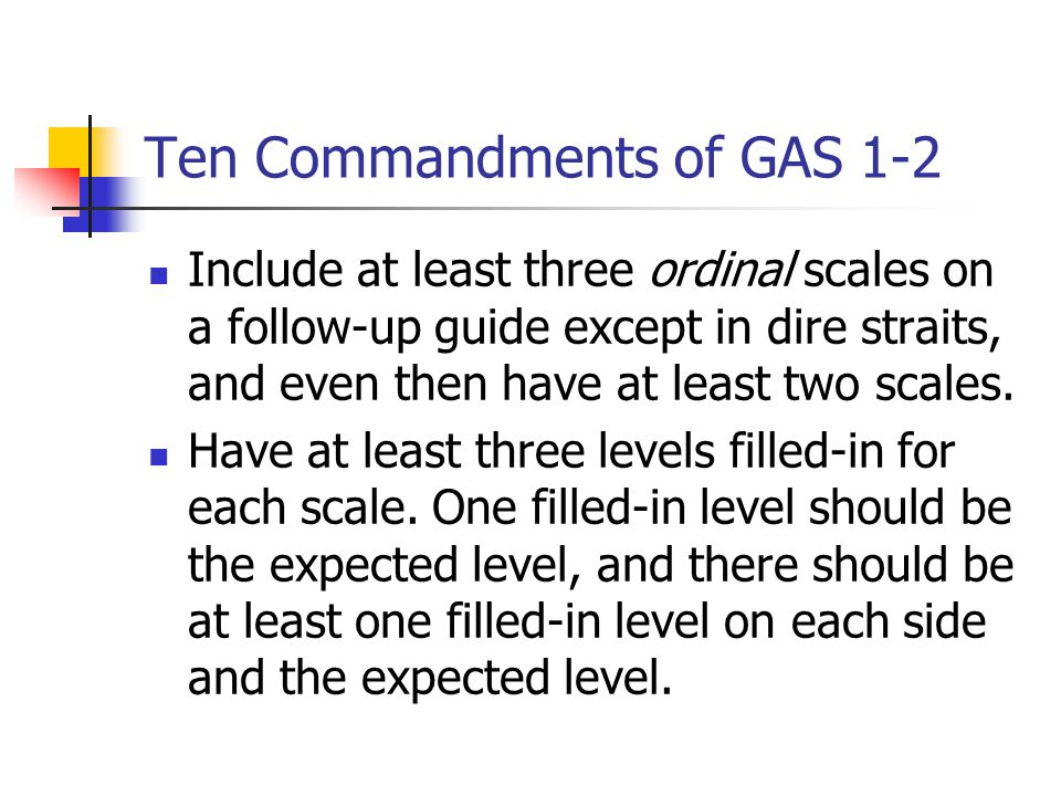 Ten Commandments of GAS 1-2