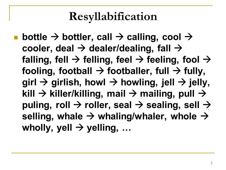 Resyllabification