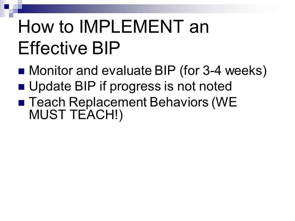 How to IMPLEMENT an Effective BIP