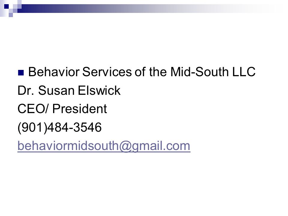 Behavior Services of the Mid-South LLC