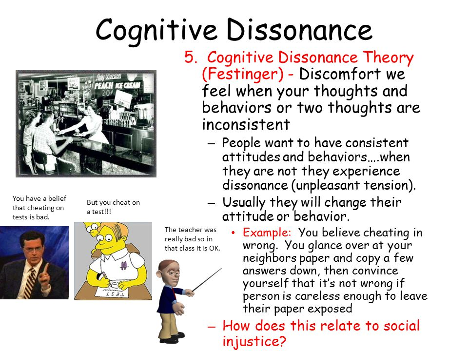 understanding the theory of cognitive dissonance essay Understanding the theory of cognitive dissonance - the human psyche frequently experiences the phenomena of internal contradiction, followed by an internal struggle for some semblance of balance or consistency (hall, 1998) cognitive dissonance acts as motivation for people to behave in a manner that effectively.