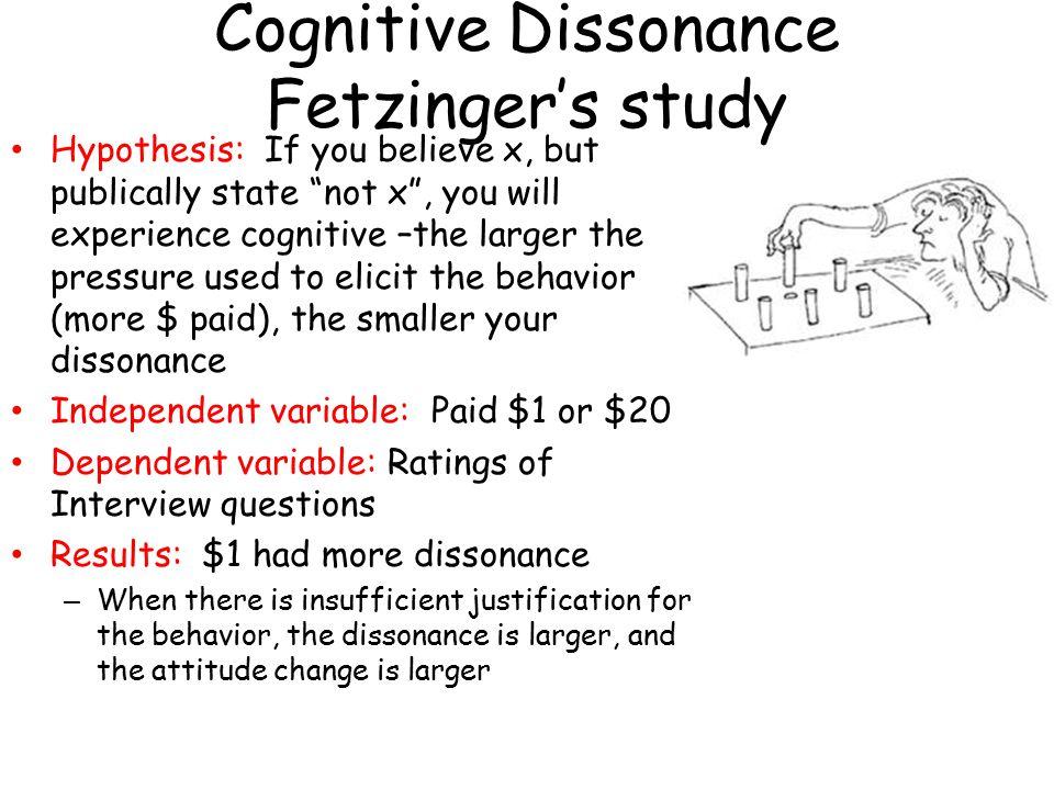 Cognitive Dissonance Fetzinger's study