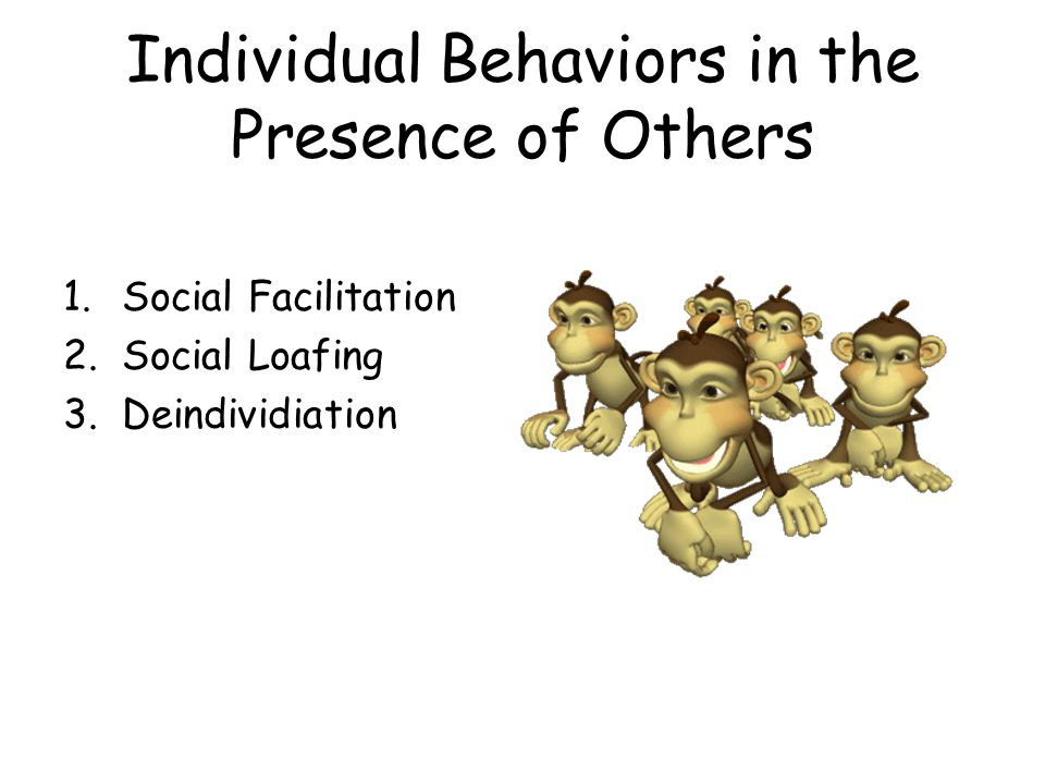 Individual Behaviors in the Presence of Others