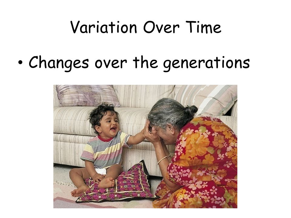 Variation Over Time Changes over the generations