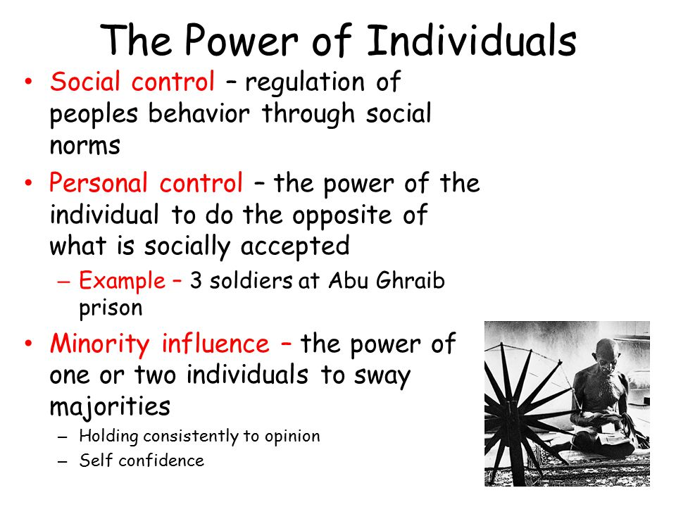 The Power of Individuals