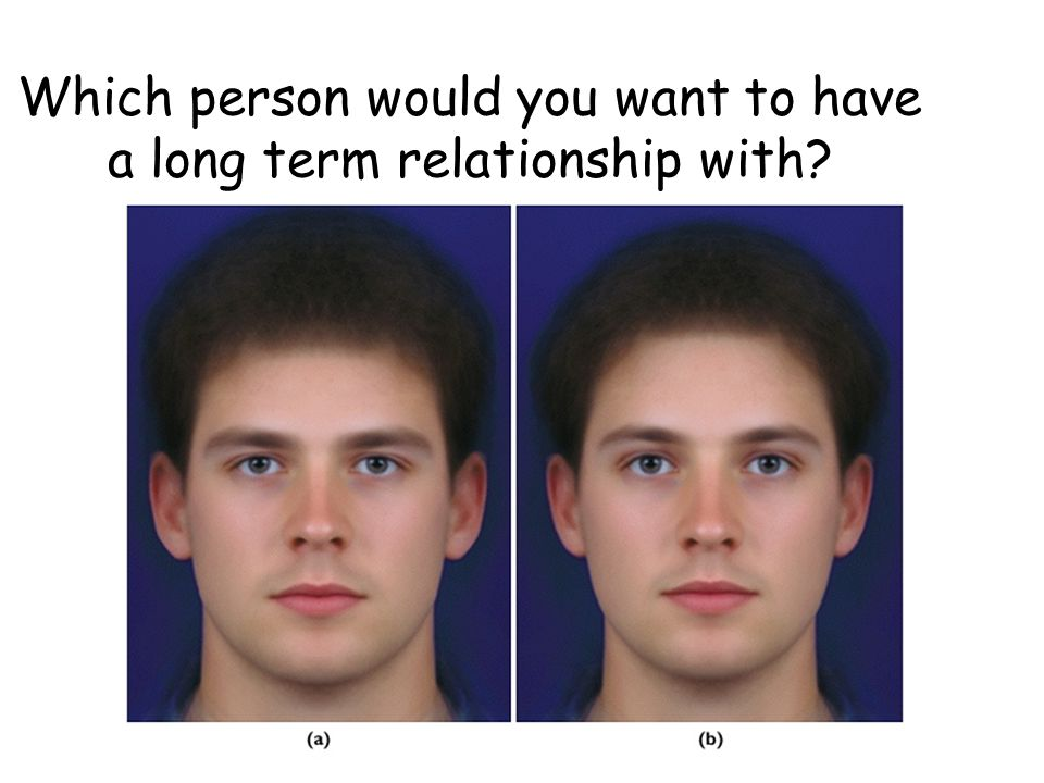 Which person would you want to have a long term relationship with