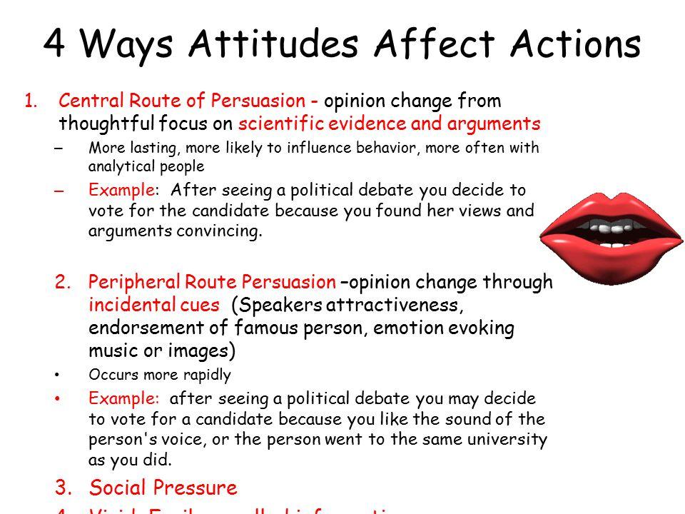 4 Ways Attitudes Affect Actions