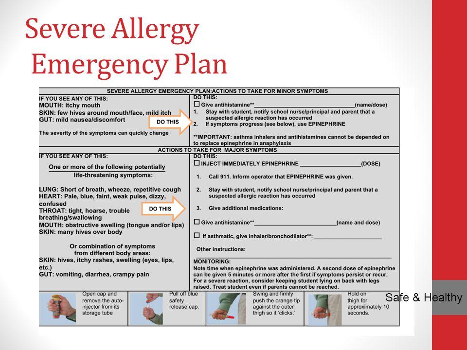 Severe Allergy Emergency Plan
