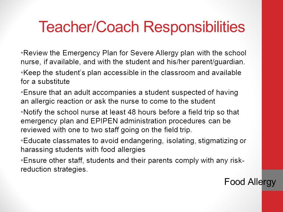 Teacher/Coach Responsibilities