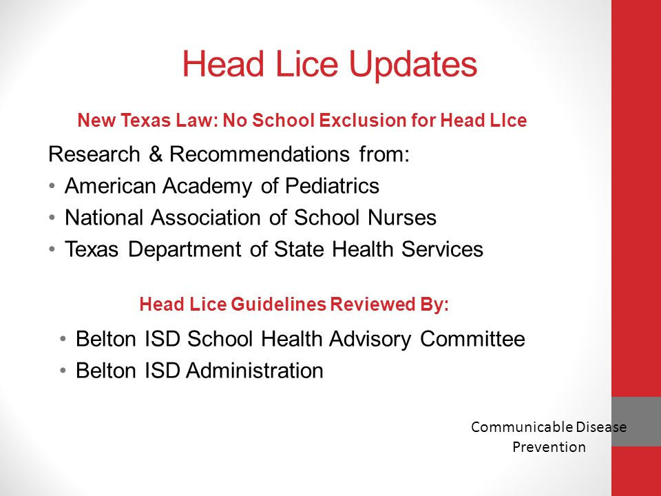 Head Lice Updates Research & Recommendations from:
