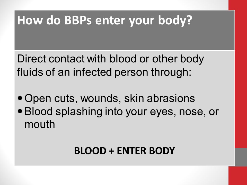 How do BBPs enter your body
