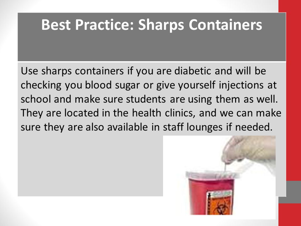 Best Practice: Sharps Containers