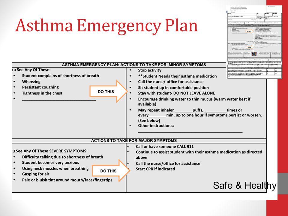 Asthma Emergency Plan Safe & Healthy