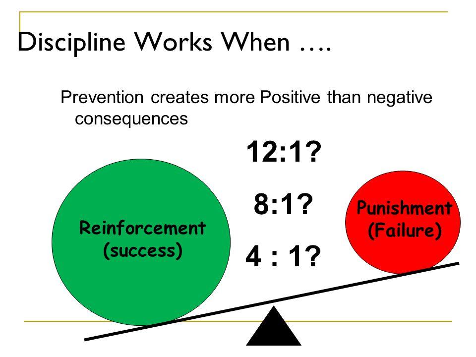 Discipline Works When ….