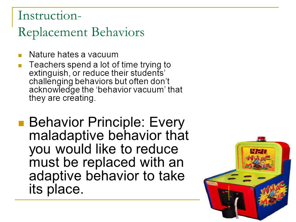 Instruction- Replacement Behaviors