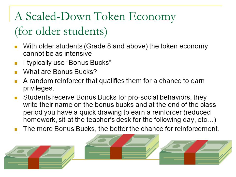 A Scaled-Down Token Economy (for older students)