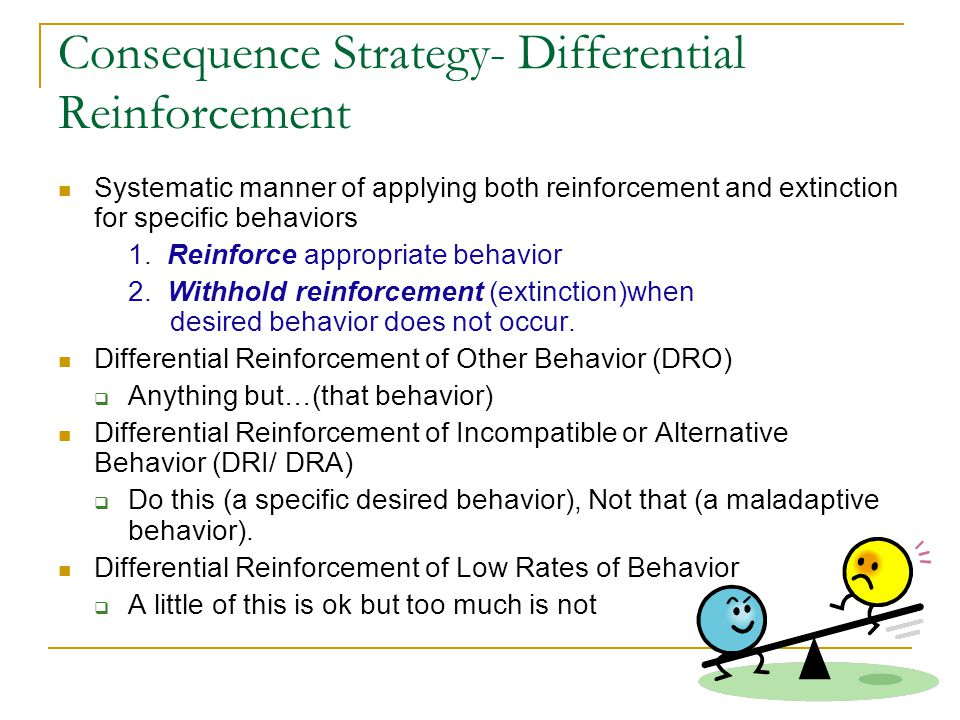 Consequence Strategy- Differential Reinforcement