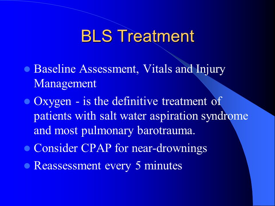 BLS Treatment Baseline Assessment, Vitals and Injury Management