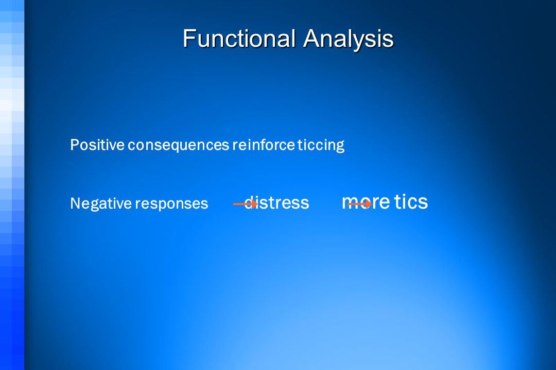 Functional Analysis Positive consequences reinforce ticcing