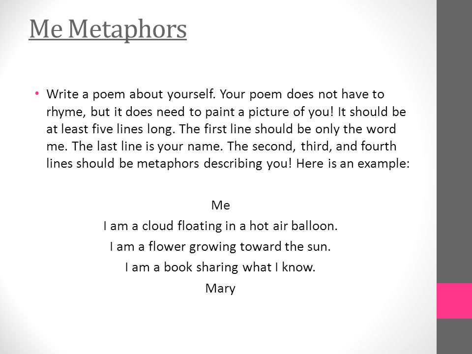 Me Metaphors