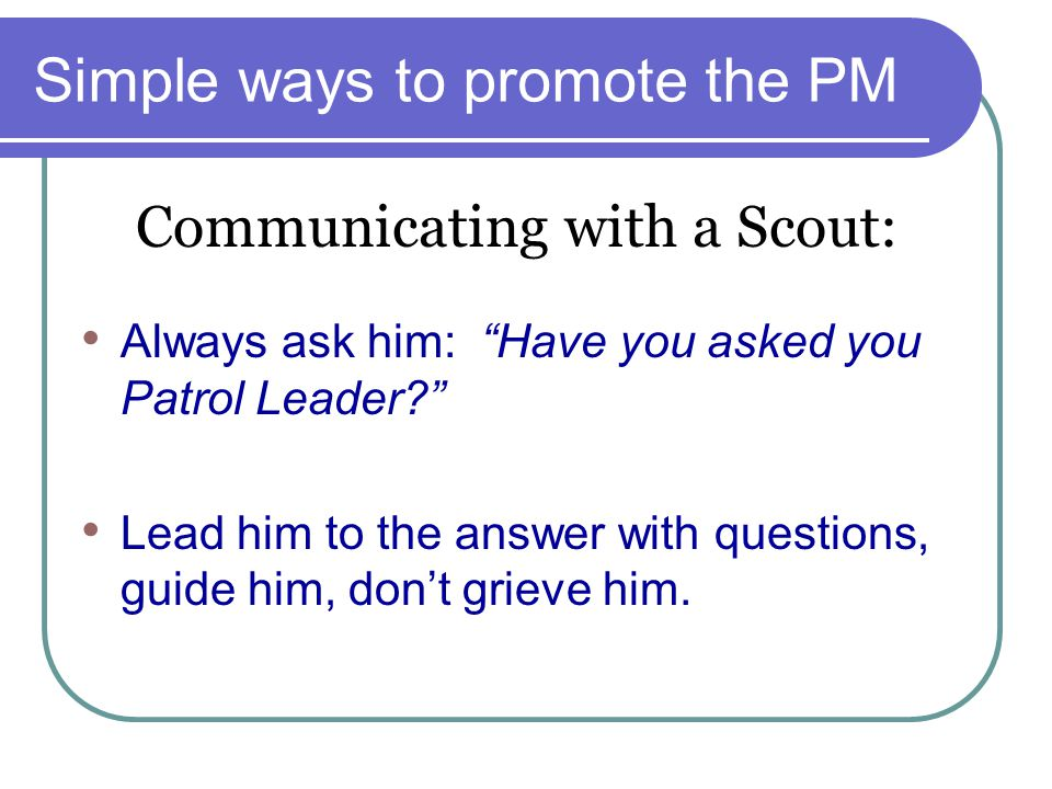 Simple ways to promote the PM