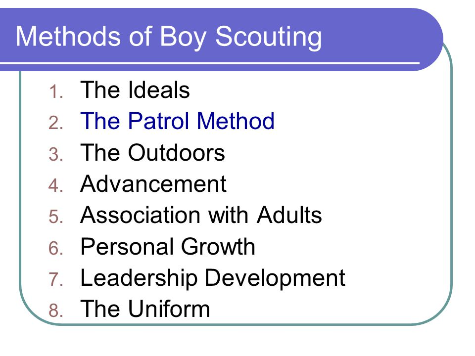 Methods of Boy Scouting