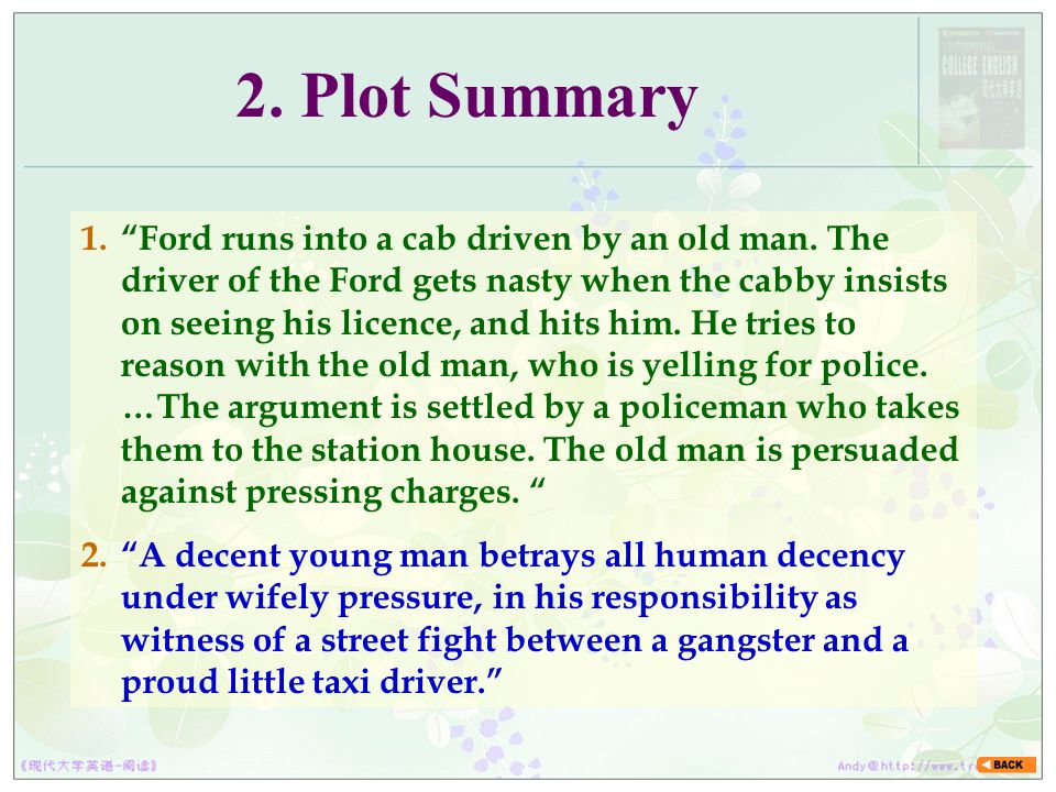 2. Plot Summary