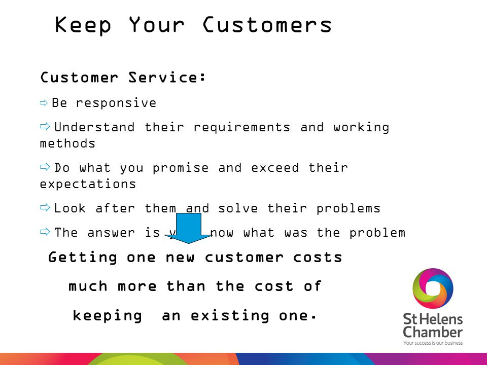 Keep Your Customers Customer Service: Getting one new customer costs