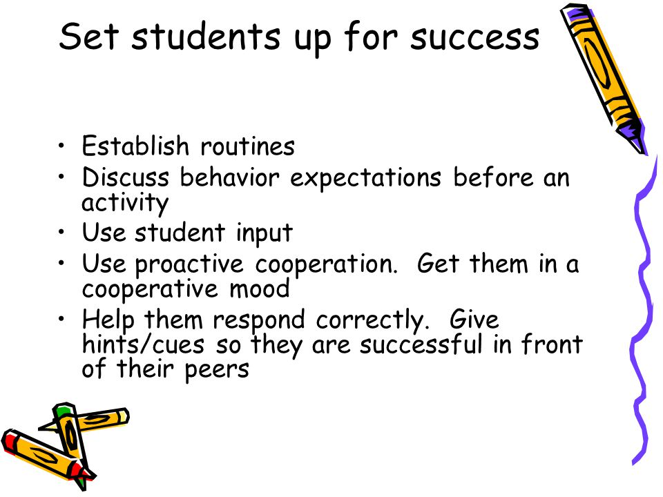 Set students up for success