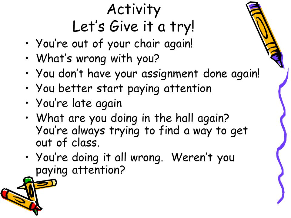 Activity Let's Give it a try!