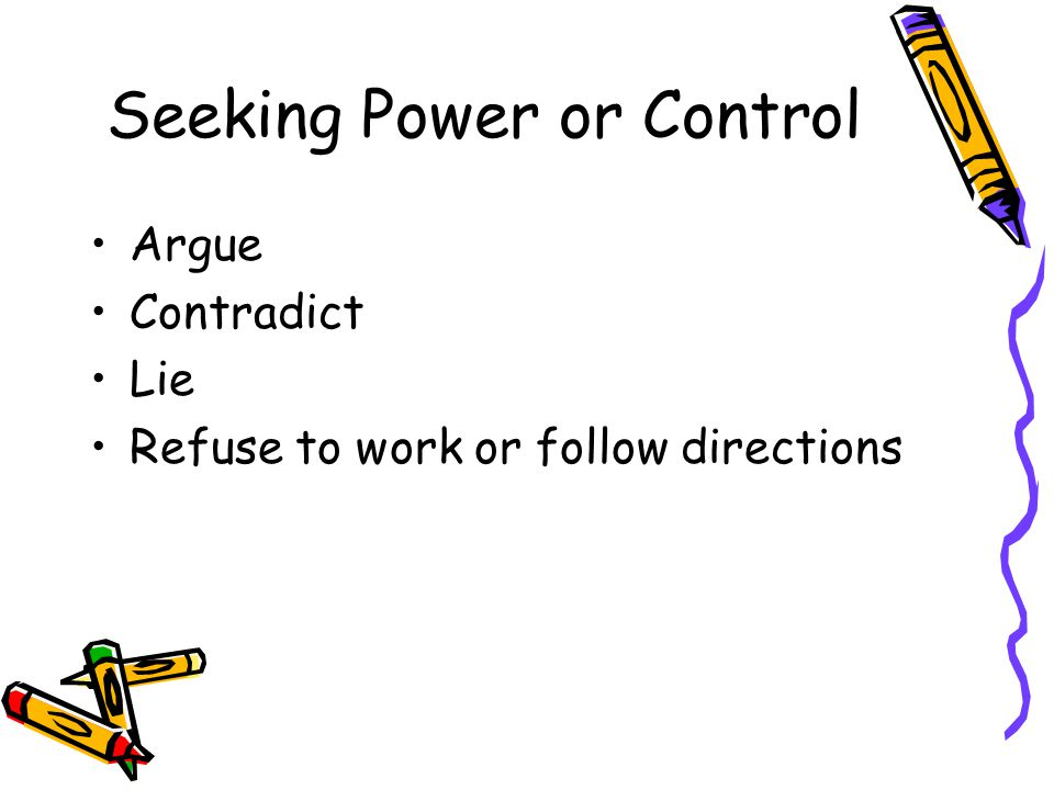 Seeking Power or Control