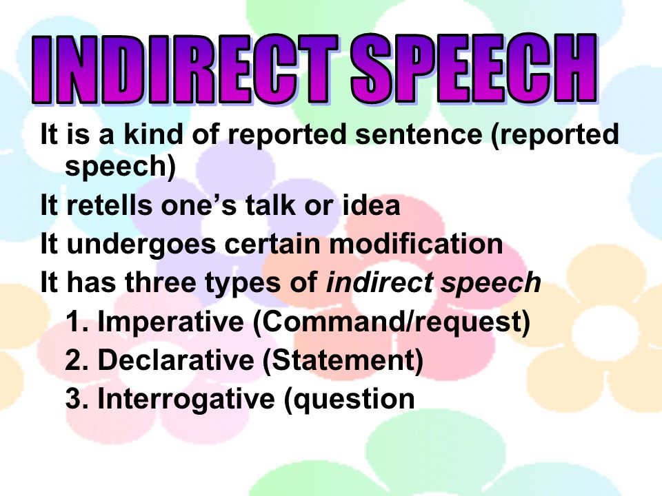 definition of reported speech pdf