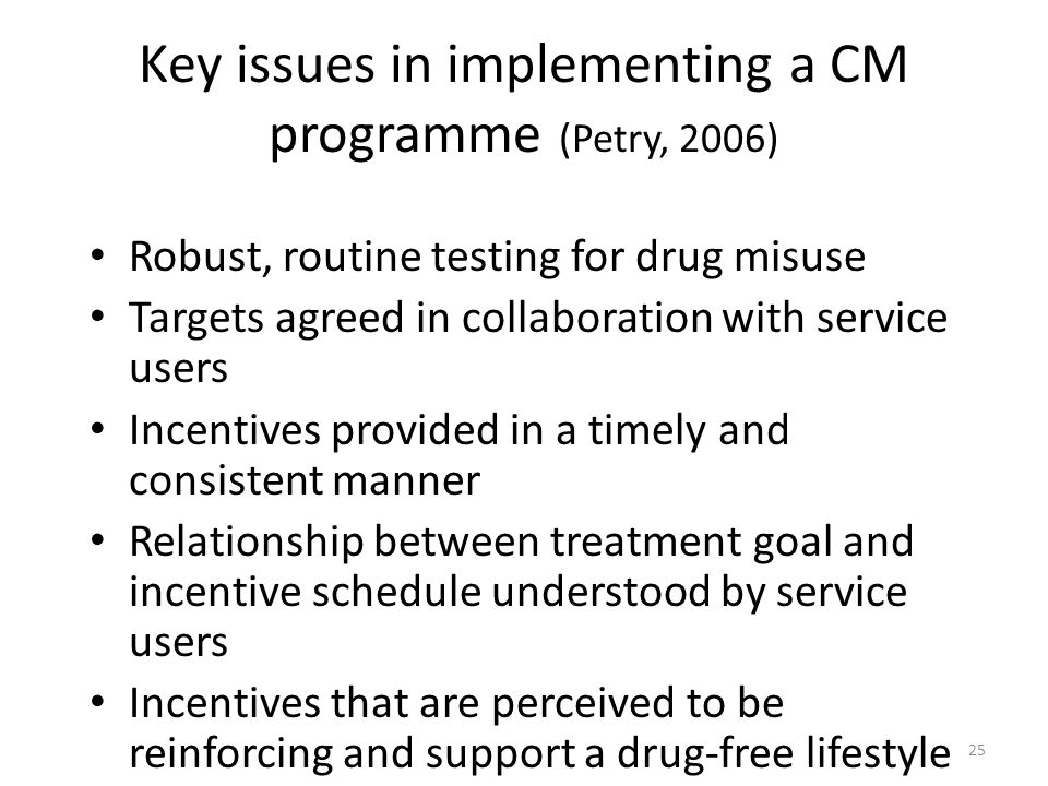 Key issues in implementing a CM programme (Petry, 2006)