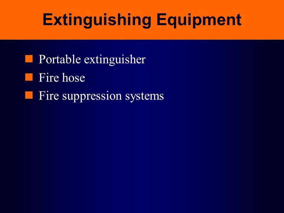 Extinguishing Equipment
