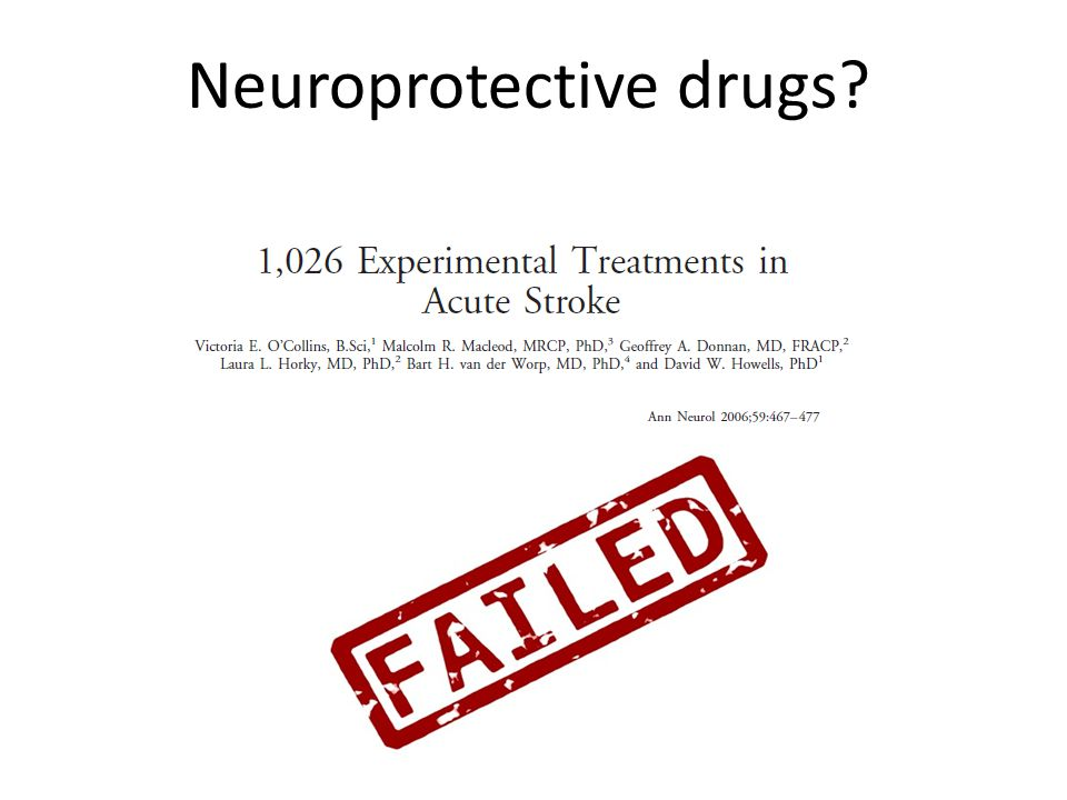 Neuroprotective drugs