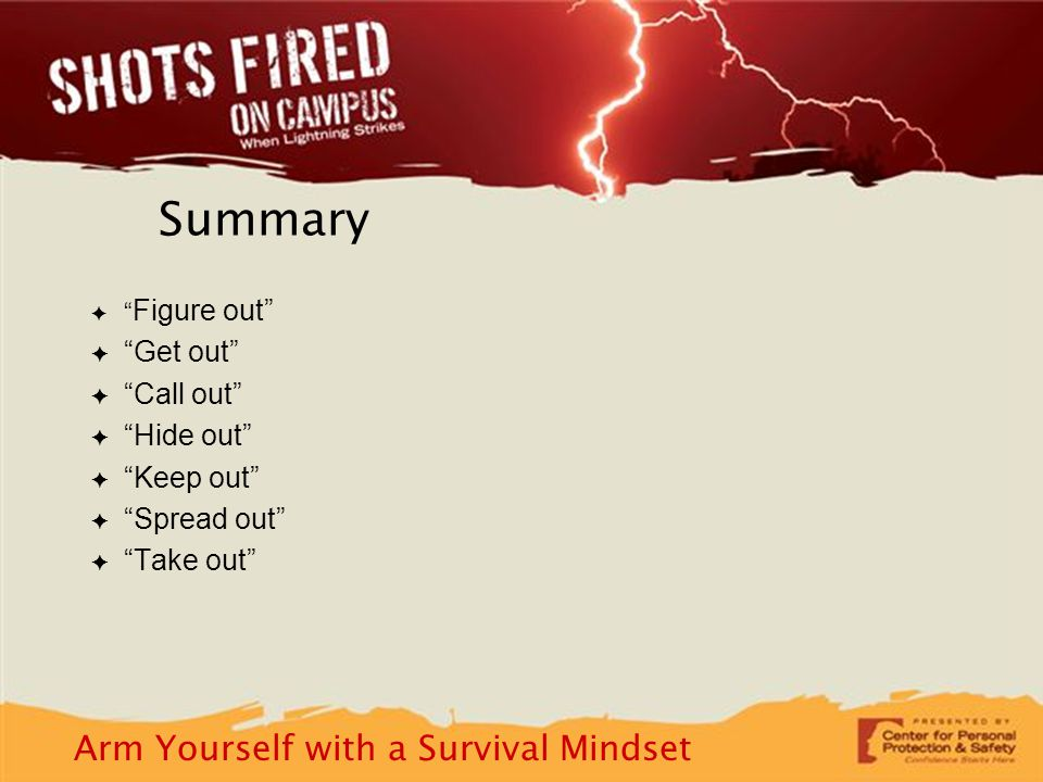 Arm Yourself with a Survival Mindset